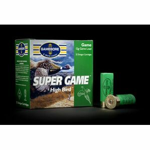 Gamebore Plastic Supergame Hi Bird 5/32 Plastic Wad Shotgun Cartridges 12g