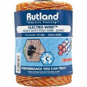 Rutland Electric Fence Jumbo Polywire 250 metre (19-186)