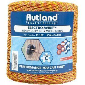 Rutland Electric Fence Jumbo Polywire 500M (19-187)