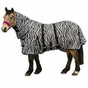 Loveson Zebra Print Fly Rug For Horses