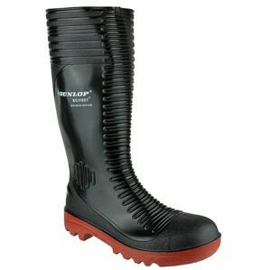 Dunlop Acifort Ribbed Full Safety Wellington Boots (Black)