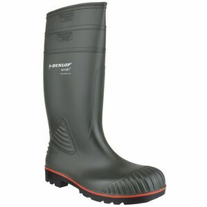 Dunlop Acifort Heavy Duty Full Safety Wellington Boots (Green)