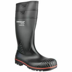 Dunlop Acifort Heavy Duty Full Safety Wellington Boots (Black)