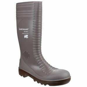 Dunlop Acifort Full Safety Wellington Boots - Grey