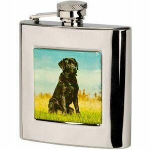 Bisley Labrador Stainless Steel Hip Flask - 6oz
