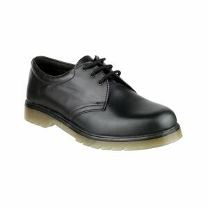 Amblers Aldershot Leather Gibson Shoes (Black)