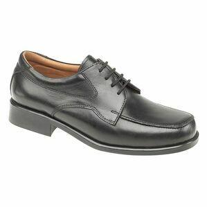 Amblers Birmingham Lace Gibson Shoes (Black)
