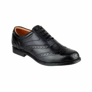Amblers Liverpool Black Oxford Brogue Shoes