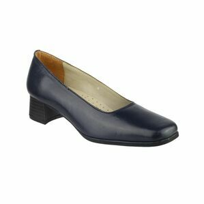 Amblers Walford Ladies Leather Court Shoes (Navy)