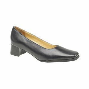 Amblers Walford Ladies Wide Fit Court Shoes (Navy)