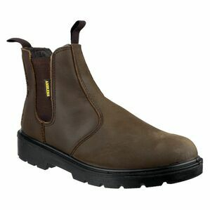 Amblers FS128 Hardwearing Pull On Safety Dealer boot in Brown