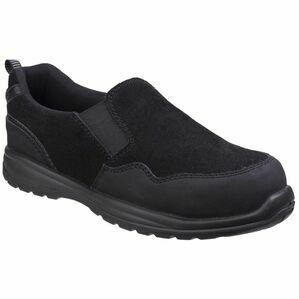 Amblers Safety AS603C Metal Free Ladies Slip On Shoes (Black)