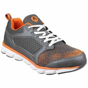 Amblers Safety AS707 Lightweight Non Leather Trainers (Grey/Orange)