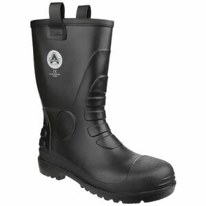 Amblers Safety FS90 Waterproof PVC Pull on Safety Boots (Black)
