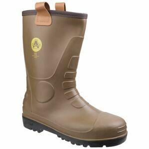 Amblers Safety FS95 Waterproof PVC Rigger Safety Boots (Tan)