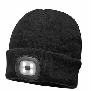 Portwest Beanie Headlight With Rechargeable LED - Black