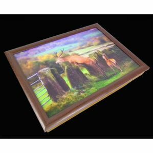 Country Matters Jumping Stag Lap Tray