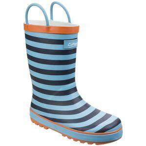 Cotswold Captain Stripy Wellington Boots (Blue)