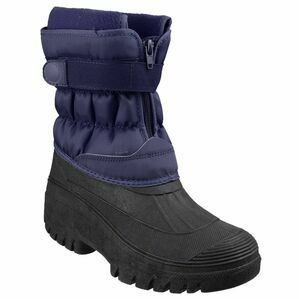 Cotswold Chase Touch Fastening & Zip Snow Boots (Navy)