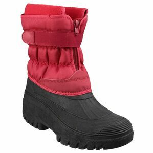 Cotswold Chase Touch Red Fastening & Zip Snow Boots