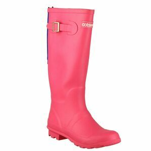 Cotswold Highgrove Buckle Up Wellington Boots (Fuchsia)