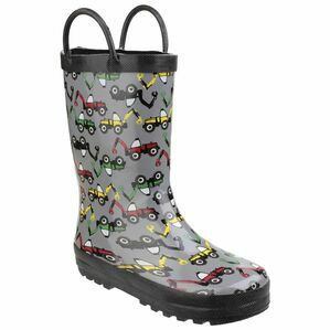Cotswold Digger Print Child\'s Puddle Waterproof Pull On Wellies