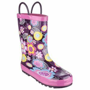 Cotswold Child\'s Puddle Waterproof Pull On Wellies (Flower)