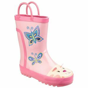 Cotswold Child\'s Puddle Waterproof Pull On Wellies (Pink)