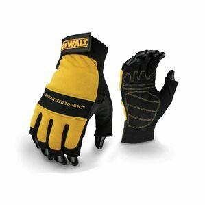 DeWalt Tough Fingerless Perfor in Black/Yellow