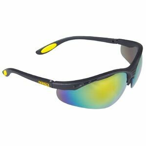 DeWalt Reinforcer Safety Eyewe in Black/Fire Mirror/Yellow