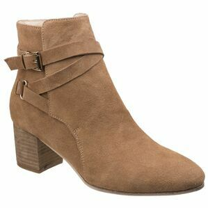 Arianna Ankle Boot With Heels in Sand