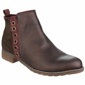 Demi Pull On Ankle Boot in Burgundy