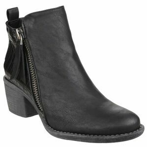 Dench Zip Up Ankle Boot in Black