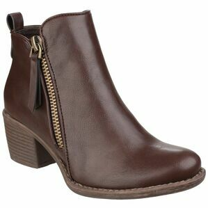 Dench Zip Up Ankle Boot in Brown