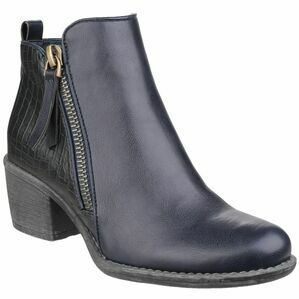 Dench Zip Up Ankle Boot in Navy