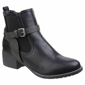 Ivana Block Heel Ankle Boot in Black