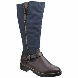 Manson Tall Boot in Brown/Blue