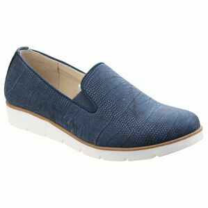 Mariah Slip On Twin Gusset Sho in Blue
