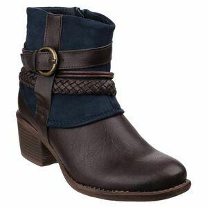 Vado Zip Up Ankle Boot in Navy