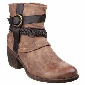 Vado Zip Up Ankle Boot in Tan