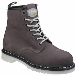 Dr Martens Maple Classic Ladies Safety Steel-Toe Boots (Grey Wind River)