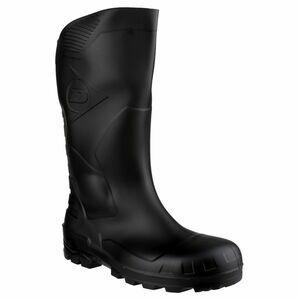 Dunlop Devon Full Safety Wellington Boots (Black)