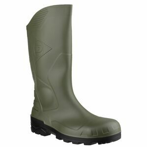 Dunlop Devon Full Safety Wellington Boots (Green/Black)
