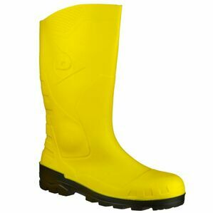 Dunlop Devon Full Safety Wellington Boots (Yellow/Black)