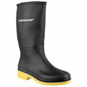 Dunlop Dull Wellington Boots (Black)