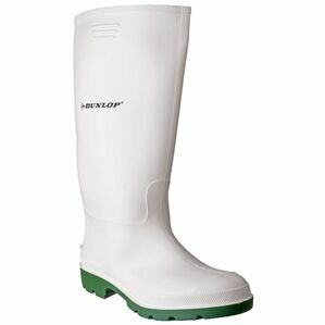 Dunlop Pricemastor Wellington Boots (White/Green)