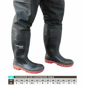 Dunlop Acifort A252931TW Thigh Waders (Black)