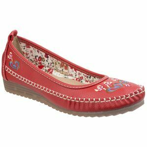 Algarve Moccasin in Red