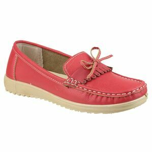 Elba Loafer Shoe in Red