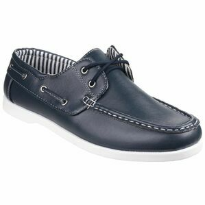 Falmouth Lace Up Boat Shoe in Navy